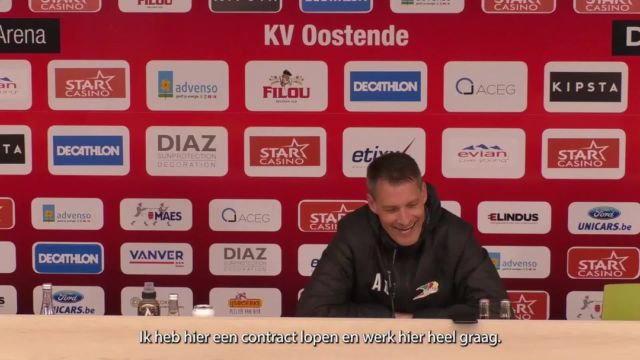 """""""I still have a contract for one season with KVO. I feel good here and can do my thing . But I can't answer 'yes' or 'no' to the question whether I will definitely still be here next season. In football, everything can change fast."""" #kvoostende #kvokvm #jpl"""