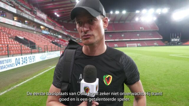 """""""Manuels works hard, plays good and deserved this chance. He did well, now he needs to keep up the good work and than, new chances will come."""" - @alexanderblessin  #stakvo #jpl #kvoostende #kvodna #osifo"""