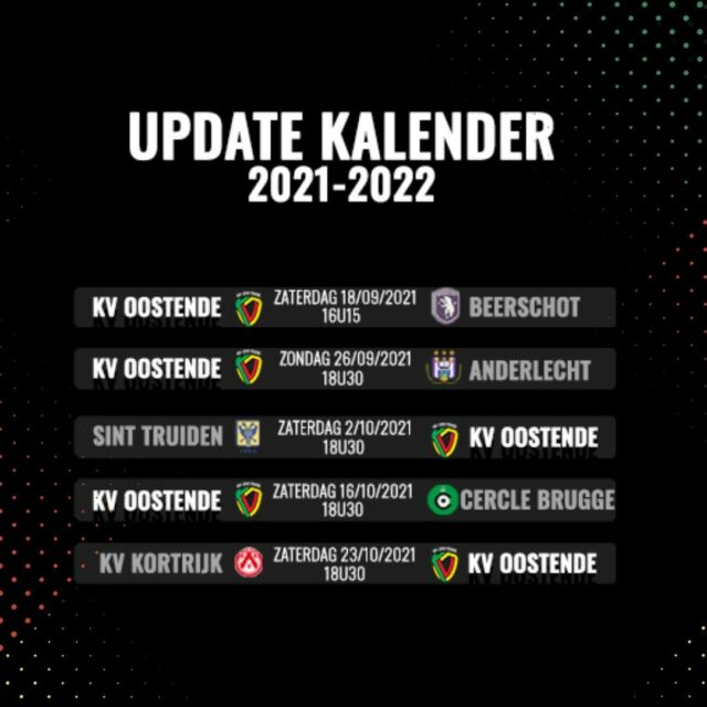 New dates and this time without Sunday eve football 😉 #kvostende #schedule