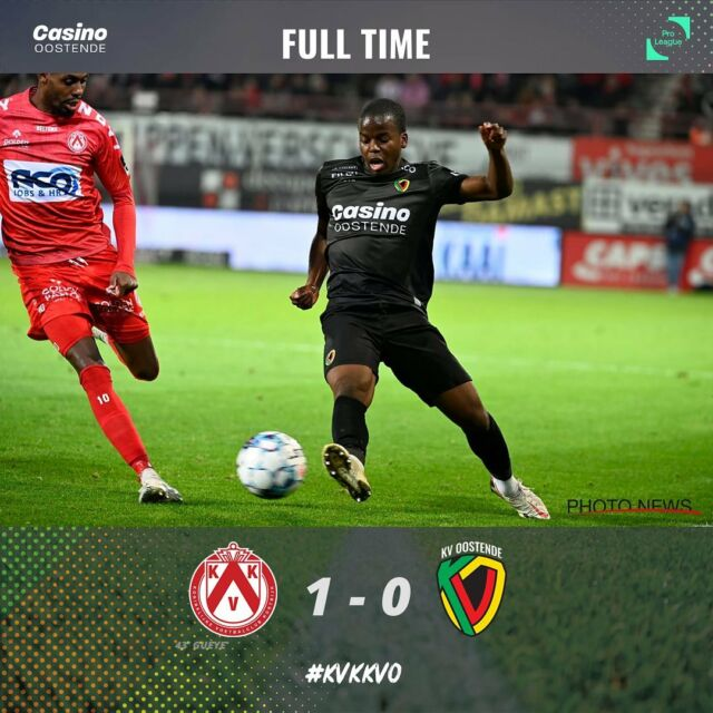 A disappointing result. Tuesday we play a home game for the Croky Cup. #korkvo #jupilerproleague